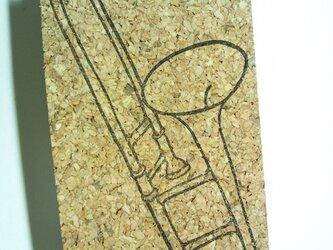 消しゴムはんこ:トロンボーンの画像