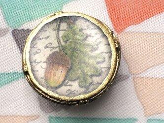 ジムクヌプフ レジンフレームボタン どんぐり1014の画像