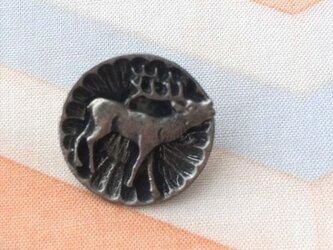 メタルボタン トナカイ-シルバー  681の画像