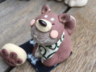 なんともかわいい茶柴犬のおきもの(ぷっくりバージョン)の画像
