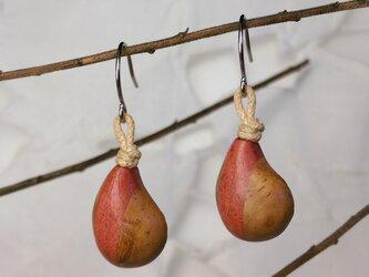 「ちっちゃめしずく型」寄木のピアス・イヤリング2(送料込)の画像