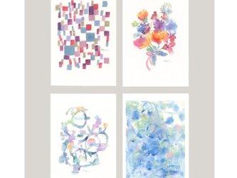 季節の色、ポストカード4枚セットの画像