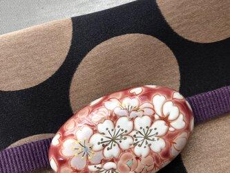 薄紅 桜帯留めの画像