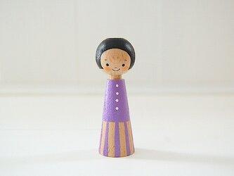 [conocokeshi]指人形・hand puppet[9]スミレ色の画像