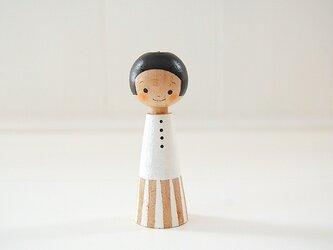 [conocokeshi]指人形・hand puppet[11]純白の画像