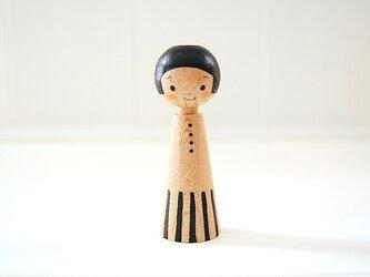 [conocokeshi]指人形・hand puppet[12]黒ワンピの画像