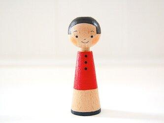 [conocokeshi]指人形・hand puppet[15]赤藍の画像