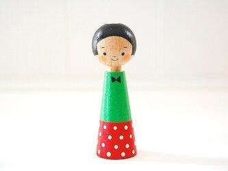 [conocokeshi]指人形・hand puppet[16]水玉の画像