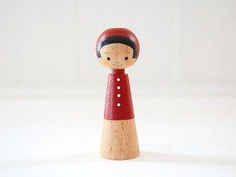 [conocokeshi]指人形・hand puppet[17]茜色ずきんの画像