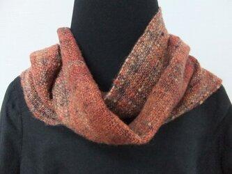 手紬ぎ手織りマフラー #7の画像