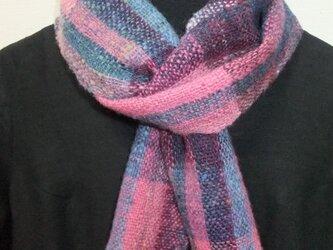 手紬ぎ手織りマフラー #12の画像