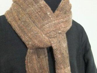 手紡ぎ手織りマフラー #3の画像