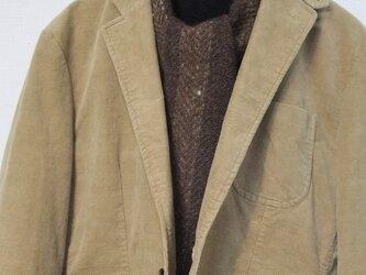手紬ぎ手織りマフラー #14の画像