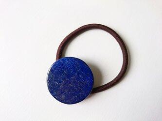 天然石の髪飾り「瑠璃色のラピスラズリ」の画像