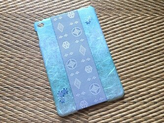 和紙×畳縁iPad mini カバー[楓]の画像
