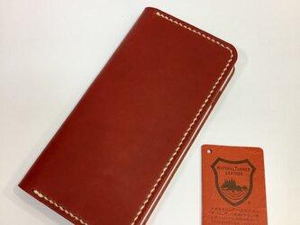 革のiphoneケース ち AKA(刻印無料,iPhone11対応可)の画像