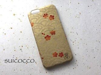 友禅和紙iPhone6カバー[海波梅]の画像