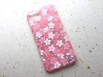 友禅和紙iPhone7カバー[桜咲く]の画像