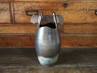 備前 手桶花入れ(35.7cm)_h3-019の画像
