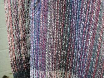 手織シルクマフラーの画像