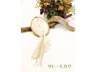 *刺繍タペストリー×レース*(ボタニカル) 【送料無料】の画像