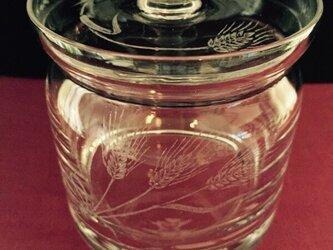 麦のキャニスター 〜手彫りガラス〜の画像