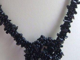 天然石☆さざれオニキスのネックレスの画像