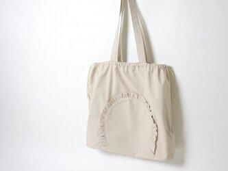 フリルイージーバッグ バッグインバッグ トートバッグの画像