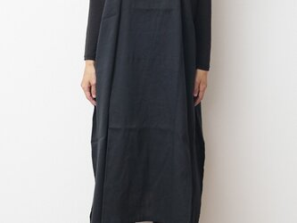 basic wear fuwa-T LONG Vネック(秋コーデ)の画像