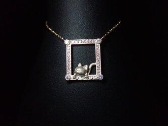 K10YG Cat Necklace - 猫 -の画像