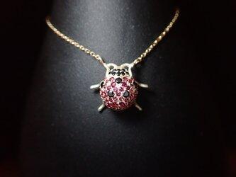 K10YG Ladybird Necklace - てんとう虫 -の画像