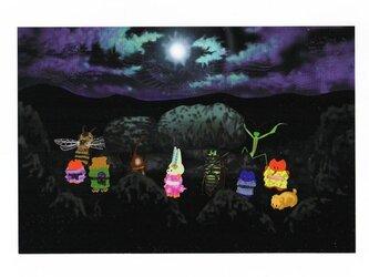 夏の盆踊りポストカード【2枚組】の画像