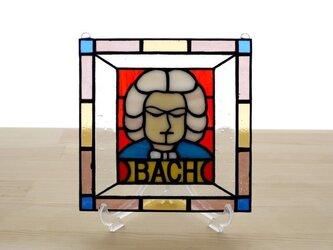 ステンドグラス ミニパネル バッハ 15cmの画像