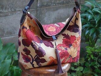 ハ様ご依頼品:ワンハンドルのくったりバッグ(輸入生地:サンダーソン社製アマンプリ使用)の画像