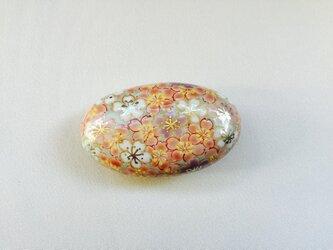 淡彩 桜詰 帯留めの画像