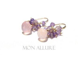 bouquet saisonnier(ピンクカルセドニー)の画像
