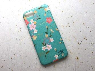 友禅和紙iPhone7カバー[桜日和]の画像
