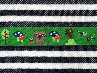 ドイツファーベミクス 刺繍リボン 1m-アライグマときのこの画像