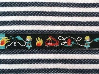 ドイツファーベミクス 刺繍リボン 1m-消防士 ブラックの画像