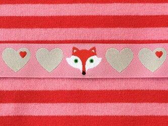 ドイツファーベミクス 刺繍リボン 1m-きつね ピンクの画像