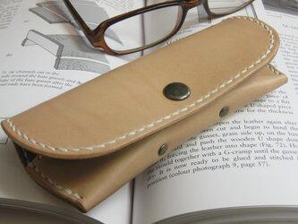 シンプルメガネケース(糸色選択可!)の画像