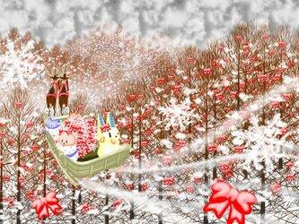 上信越自動車道からメリークリスマスポストカード【2枚組】の画像