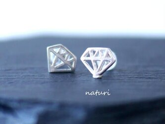 【diamante】sv925 diamond pierce (2pcs)の画像