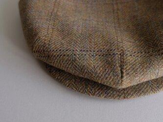 Re:19世紀のキャスケット - ヘビーオンスハリスツイード・多色織り・チェック -<受注制作>の画像