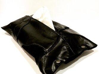 Boxティッシュケース【ブラック】の画像