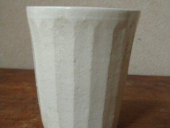 粉引き面取りフリーカップの画像