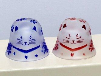 【予約販売】ネコ盃(眠り白猫ペア)の画像