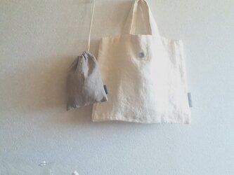 シンプルミニbag + 巾着 + リネンクロスの画像