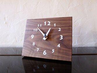 ブラックウォルナットの時計 22センチ 012s 文字盤白色の画像