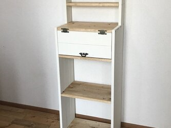display shelf cabinet WWB h120 BW   上段飾り棚付きキャビネットの画像